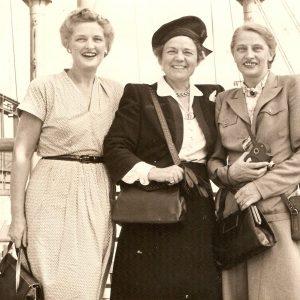 Bleyswijk Sombeek (links), Edna True (midden) en Jetty Straub (rechts)