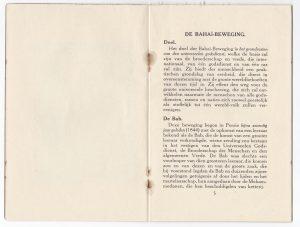 Bahai Brochure